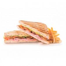 Клаб-сендвич с ветчиной и сыром